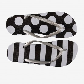 כפכפי אצבע KAJA Black/White dots and stripes